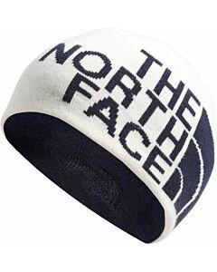 The North Face Rev TNF Banner Beanie- Vintage White/ Aviator Grey