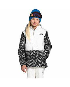 The North Face Youth Freestyle Insulated Jacket Girl's- TNF Black Shibori Chevron