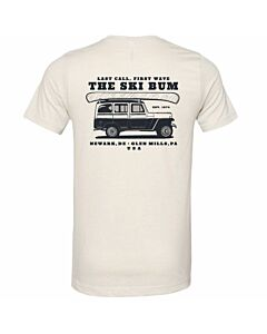 The Ski Bum Jeep Tour Tee Adult's- Heather Cement