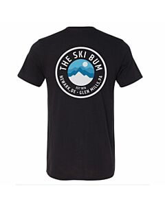 The Ski Bum Moonview T-Shirt - Black