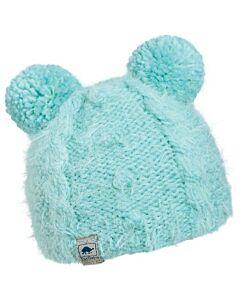 Turtle Fur Fluff Ball Hat Kids- Mint
