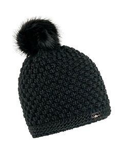 Turtle Fur Snowfall Hat- Black