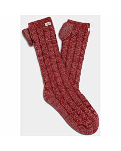 Ugg Laila Bow Fleece Sock Women's- Kiss/ Silver