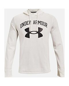 Under Armour Rival Terry Big Logo Hoodie Men's- White