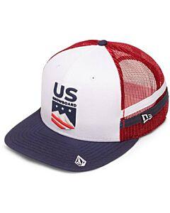 Volcom USST Trucker Hat- Snowboard Team Red