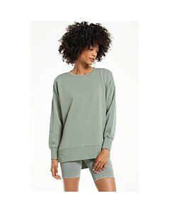 Z Supply Layer Up Sweatshirt Women's- Agave Green
