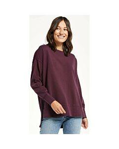 Z Supply Layer Up Sweatshirt Women's- Deep Plum