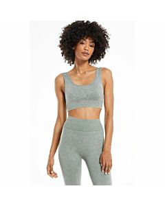 Z Supply Work It Out Seamless Bra Women's- Agave Green